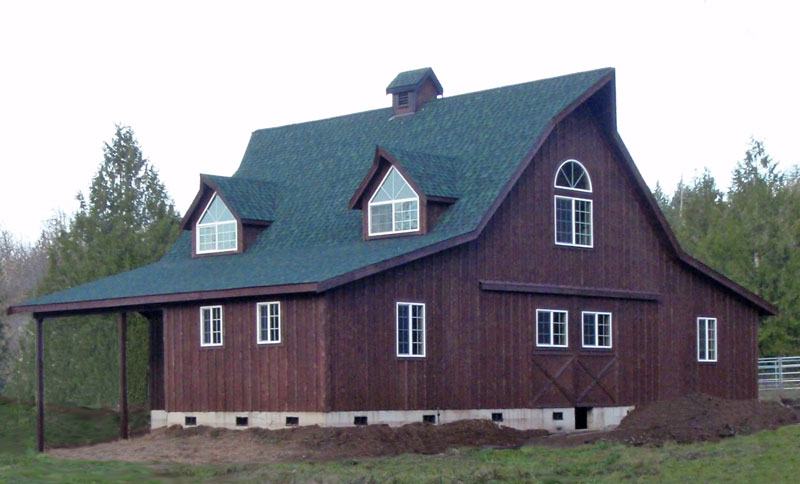 Wood project ideas complete barn inspired home plans for Barn inspired house plans