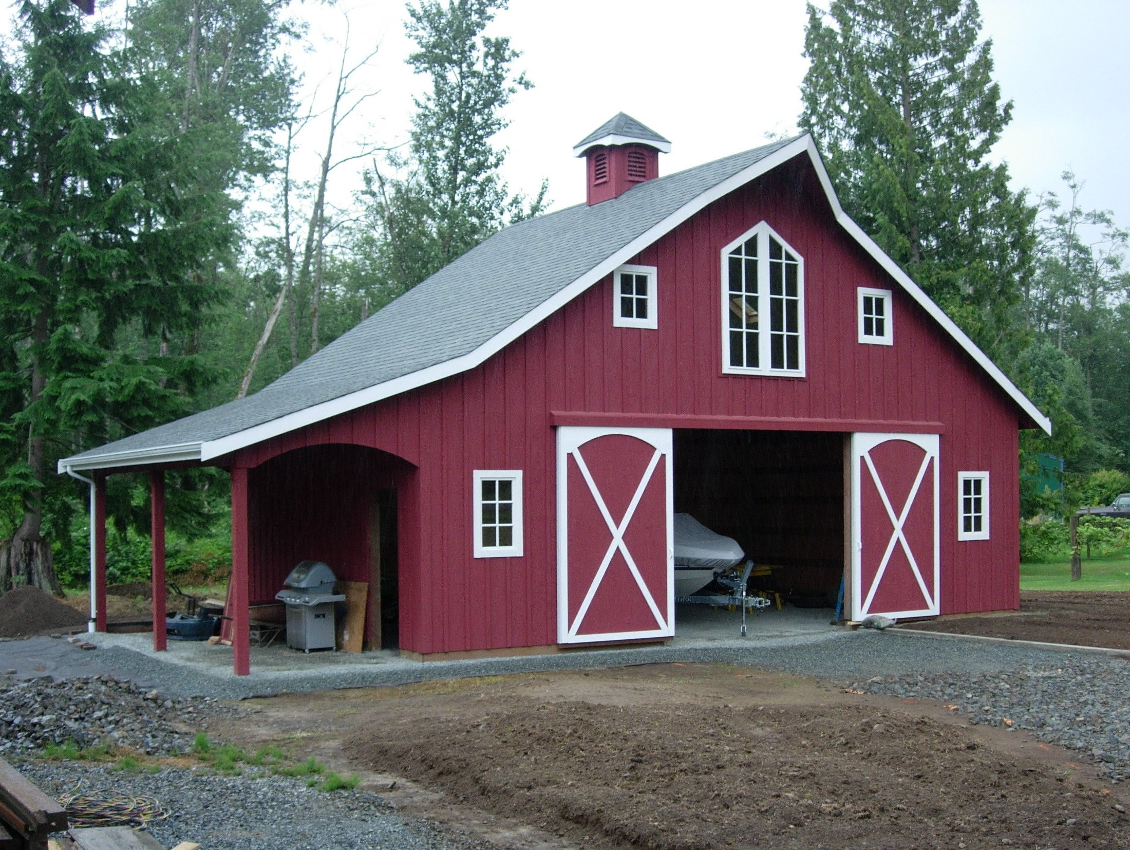 Rv pole barn ideas and pictures joy studio design for Barn shed with loft plans