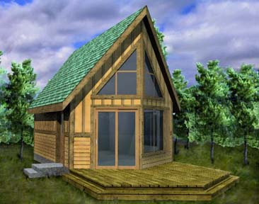 Small cabin loft kit joy studio design gallery best design for Prow front house plans