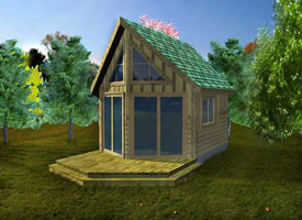 200 Square Foot Cabin Plans http://pennypincherbarns.com/CabinKits/MountainberryCabin.aspx