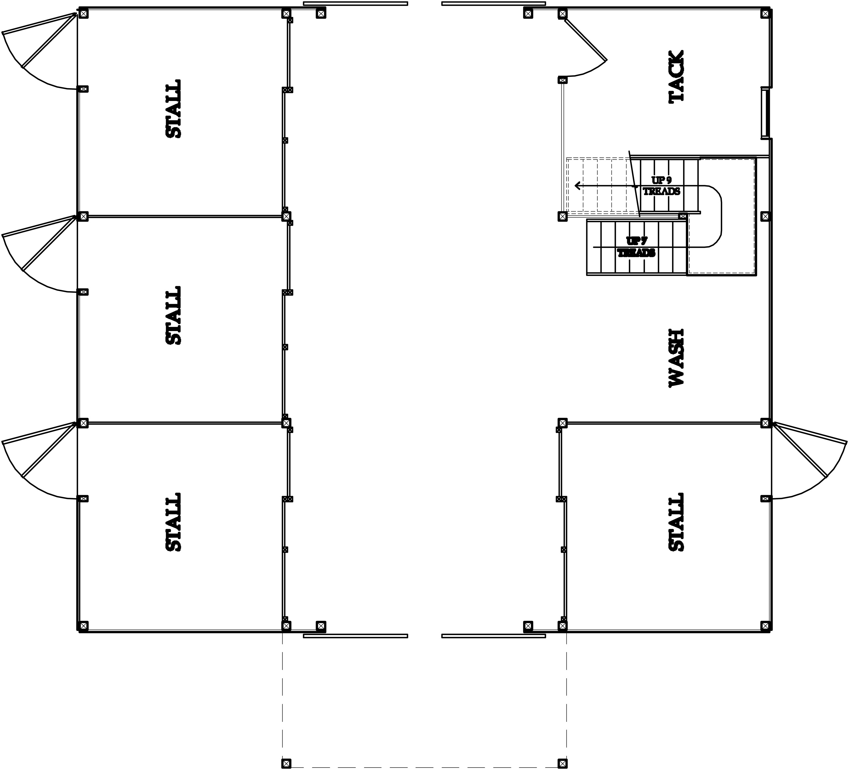 Horse barn floorplans house plans home designs for Barn floor plan